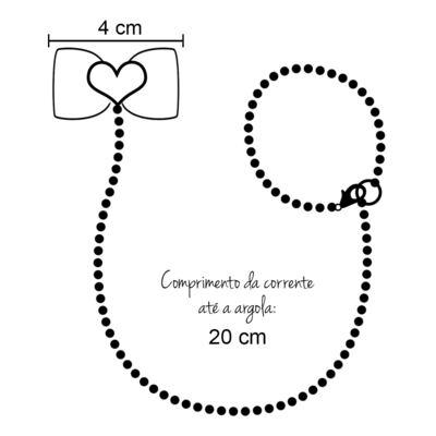 Imagem 4 do produto Prendedor de chupeta Laço Coração Rosa - Roana