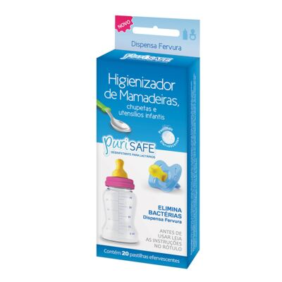 Imagem 1 do produto Higienizador de Utensílios Infantis PuriSafe 20 Pastilhas Efervescentes