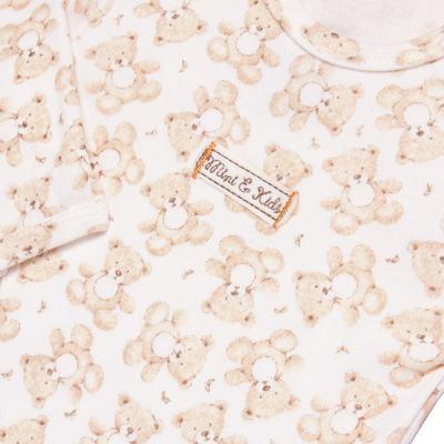 Imagem 3 do produto Body longo com Calça em algodão egípcio c/ jato de cerâmica e filtro solar fps 50 Nature Little Friend Bear - Mini & Kids - CJBM0001.18 CONJUNTO BODY M/L C/CALÇA - SUEDINE-G