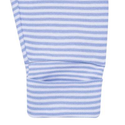 Imagem 4 do produto Body longo com Calça para bebe em algodão egípcio c/ jato de cerâmica e filtro solar fps 50 Mariner - Mini & Kids - CS571.323 CONJ BODY ML C/ MIJAO SUEDINE LISTRAS-P