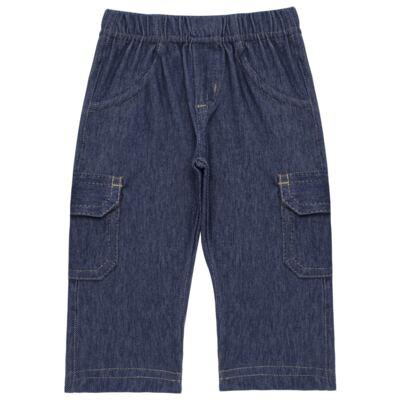 Imagem 3 do produto Body longo com Calça jeans fleece em algodão egípcio c/ jato de cerâmica e filtro solar fps 50 Little Guardians - Mini & Kids - CBC1304 BODY M/L C/ CALÇA SUEDINE LONDON BEAR-P