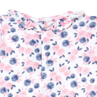 Imagem 2 do produto Body curto para bebê em cotton Flourish - Mini Sailor - 01104440 BODY M/C C/BABADO NA GOLA COTTON FLORAL-9-12