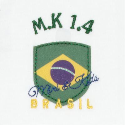 Imagem 5 do produto Body longo com Calça para bebe em Pima Cotton Supreme Brasil - Mini & Kids - CBBC334 BODY ML COM CALÇA SUEDINE BRASIL-M