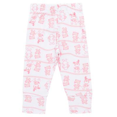 Imagem 4 do produto Body longo com Calça (mijão) para bebe em high comfort Pink Litle Friends - Vicky Lipe - 1825151.311 BODY M/L MIJÃO PÉ REVER. FRIENDS-P