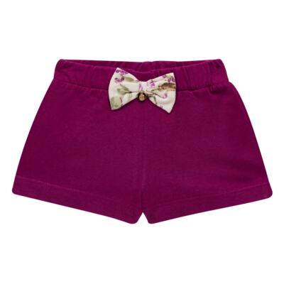 Imagem 4 do produto Body com Shorts para bebe em suedine L'Amore - Grow Up - 04080007.132 CONJUNTO POETRY FLORAL-G