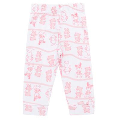 Imagem 4 do produto Body longo com Calça (mijão) para bebe em high comfort Pink Litle Friends - Vicky Lipe - 1825151.311 BODY M/L MIJÃO PÉ REVER. FRIENDS-G