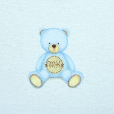 Imagem 3 do produto Body longo com Calça  em Pima Cotton Supreme Prime Bear Azul - Mini & Kids - CS971 BODY ML C/ MIJÃO SUEDINE AZUL BB-M