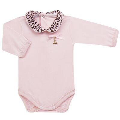 Imagem 2 do produto Body longo com Mijão para bebê em algodão egípcio Oncinha - Roana - 02532023220 CONJUNTO BODY GOLA + MIJÃO ONCINHA -M