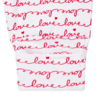 Imagem 4 do produto Body longo com Calça para bebe em algodão egípcio c/ jato de cerâmica e filtro solar fps 50 Sweet Love - Mini & Kids - CS561.256 CONJ BODY ML C/ MIJAO SUEDINE LOVE-RN