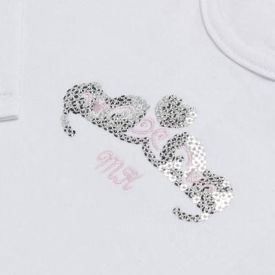Imagem 3 do produto Body longo com Calça (mijão) para bebe em spandex Ballerine - Mini & Kids - CLTU1356 BODY ML E MIJAO C/BABADO TULE EXPAND BALLET-G