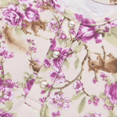 Imagem 3 do produto Body com Shorts para bebe em suedine L'Amore - Grow Up - 04080007.132 CONJUNTO POETRY FLORAL-M