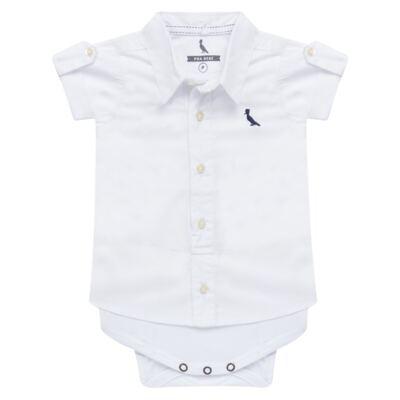 Imagem 1 do produto Body camisa para bebe Branco - Reserva Mini - RM25359 BODY CAMISA BRANCO-G