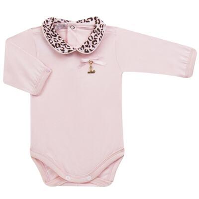 Imagem 2 do produto Body longo com Mijão para bebê em algodão egípcio Oncinha - Roana - 02532023220 CONJUNTO BODY GOLA + MIJÃO ONCINHA -RN
