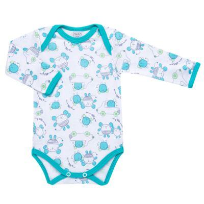 Imagem 2 do produto Body longo com Calça para bebe em high comfort Mouse - Vicky Lipe - 1825181.314 BODY M/L MIJÃO PÉ REVER. MOUSE-RN