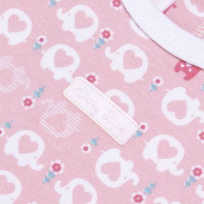Imagem 2 do produto Banho de sol para bebe em suedine Little Cute - Vicky Lipe - BSOL1362 MACACAO REGATA SUEDINE ELEFANTINHO-GG