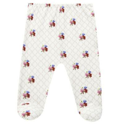 Imagem 4 do produto Body longo c/ Calça (Mijão) em algodão egípcio Flores - Roana - 02532019031 Conjunto Body longo com Calça Marfim-P