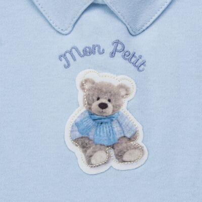 Imagem 3 do produto Body longo c/ Calça (Mijão) para bebe em algodão egípcio Chevalier - Petit - 19994167 CONJ BODY ML C/ MIJAO SUED/VISCO URSO-P
