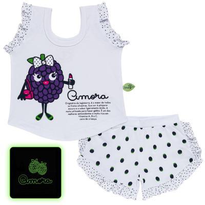 Imagem 1 do produto Baby Doll que Brilha no Escuro Amora - Cara de Criança - B2297 AMORA PJ-BABY DOLL M/MALHA-3