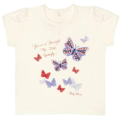 Imagem 1 do produto Blusinha para bebe em viscolycra Butterflies - Baby Classic - 6711629 BLUSINHA BASICA FEM. VISCOLYCRA BUTTERFLY 2 -GG