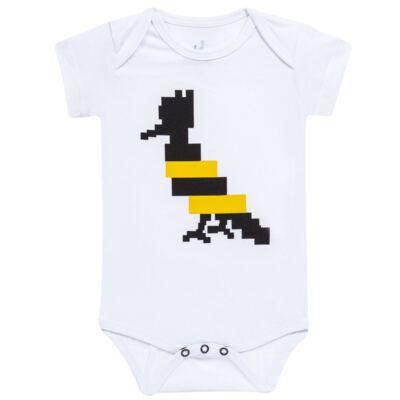 Imagem 1 do produto Body curto para bebe Abelha - Reserva Mini - RM23174 MACAQUINHO NN PICA PAU ABELHA-G
