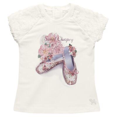 Imagem 2 do produto Blusa com Legging para bebe em cotton Ballerina Camelli - Charpey - WHITE -M