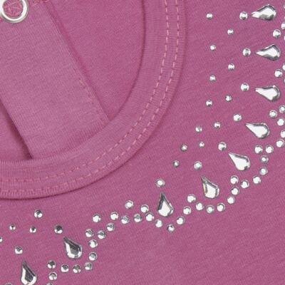 Imagem 2 do produto Blusinha mullet em cotton Pink - Missfloor - COTTON-2