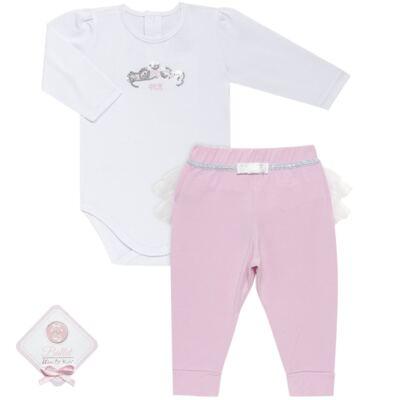 Imagem 1 do produto Body longo com Calça (mijão) para bebe em spandex Ballerine - Mini & Kids - BALLET-GG