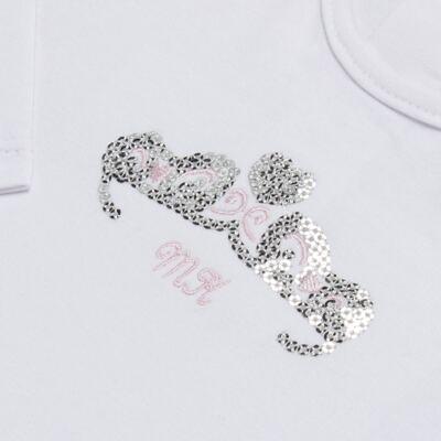Imagem 3 do produto Body longo com Calça (mijão) para bebe em spandex Ballerine - Mini & Kids - BALLET-GG