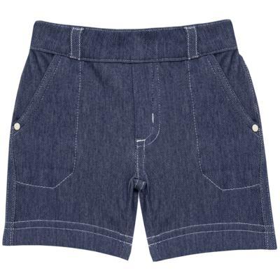 Imagem 1 do produto Bermuda em fleece Basic Denim - Mini & Kids - VERDE-M