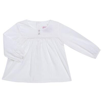 Imagem 1 do produto Bata manga longa em tricoline Off White - Missfloor - TRICOLINE-1
