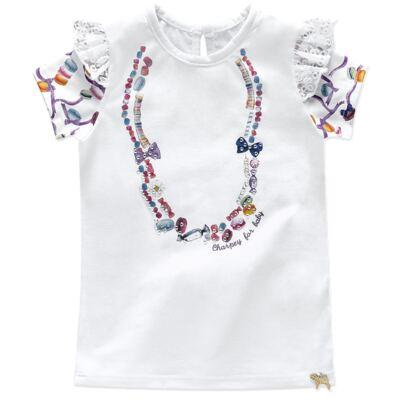 Imagem 2 do produto Blusinha c/ Shorts para bebe em cotton Sweety Candy - Charpey - BRANCO-GG