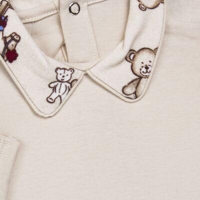 Imagem 3 do produto Body com Mijão em algodão egípcio Baby Toys - Roana - BM000887005 BODY C MIJAO 666 BEGE-RN