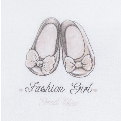 Imagem 3 do produto Blusão com Calça para bebe em moletom Sapatilha - Mini Mix - LTCM05 CONJUNTO MOLETOM SAPATILHA BRANCO/ROSA BB-2