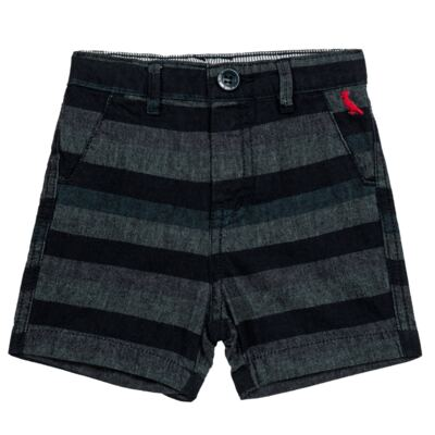 Imagem 1 do produto Bermuda para bebe Striped Jeans - Reserva Mini - RM23230 BERMUDA BB CASUAL AVESSO-G