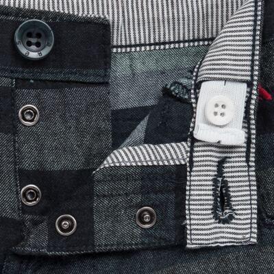 Imagem 3 do produto Bermuda para bebe Striped Jeans - Reserva Mini - RM23230 BERMUDA BB CASUAL AVESSO-G