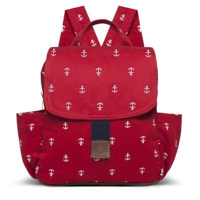 Imagem 1 do produto Mochila maternidade Classic em sarja Navy Vermelha - Classic for Baby Bags