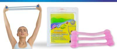 Imagem 1 do produto Tubogel Triplo Fisiopauher Fg-24 Ortho Pauher - Rosa - Suave