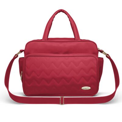 Imagem 3 do produto Mala Maternidade para bebe + Bolsa Turin + Frasqueira Térmica Trento +  Frasqueira Térmica Firenze + Trocador Chevron Rubi - Classic for Baby Bags