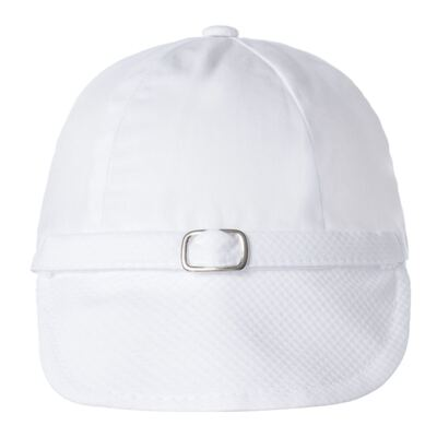 Imagem 6 do produto Camisa Colete, Shorts e Boné em tricoline Branco - Sylvaz - SZ273 Conjunto Curto Colete Batizado Branco-G
