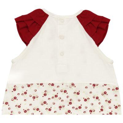 Imagem 4 do produto Macacão babadinhos c/ faixa para bebe em malha Flowery Bear - Vicky Lipe - 20671360 MACACÃO RAGLÃ C/ BABADOS MALHA URSA FLORAL-M