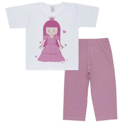 Imagem 1 do produto Pijama Curto em malha Princesinha - Cara de Sono