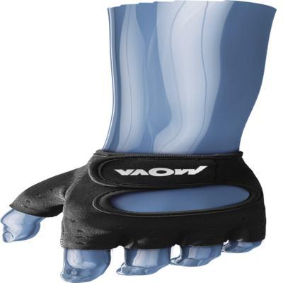 Imagem 1 do produto Luva com Power Grip na Palma e Dedos Preta Mova - Preta P