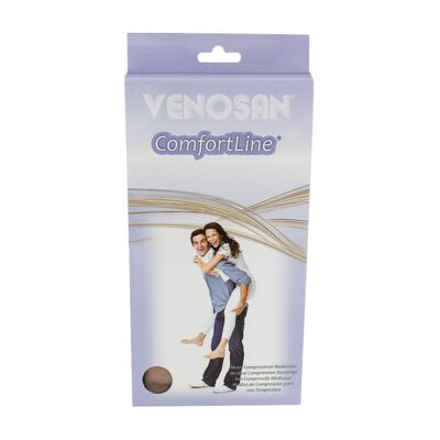 Imagem 1 do produto Meia Panturrilha AD 20-30 Comfortline Venosan - PONTEIRA ABERTA CURTA BEGE M