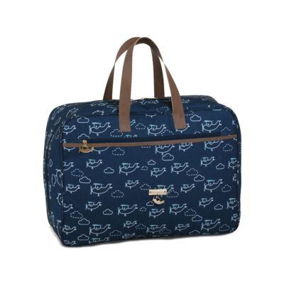 Imagem 2 do produto Mala maternidade + Bolsa Toulouse + Bolsa térmica organizadora Aviões - Masterbag