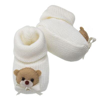 Imagem 3 do produto Sapatinho em tricot Ursinha Marfim - Roana