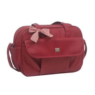 Imagem 2 do produto Bolsa maternidade + Frasqueira térmica + Porta Mamadeira Laço Vermelho - Hey Baby