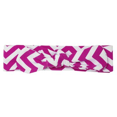 Imagem 3 do produto Legging c/ Faixa de cabelo para bebe em lycra Chevron Pink - Letiti - LTT03 LEGGING FAIXA LUMA PINK-4