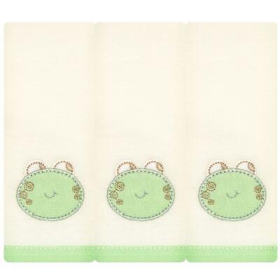 Imagem 1 do produto Kit com 3 fraldinhas de boca em malha Little Frog - Classic for Baby