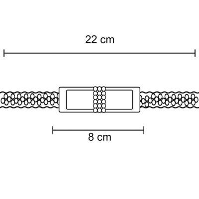Imagem 3 do produto Faixa Laço & Mini Pérolas Rosa - Roana