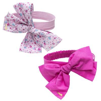 Imagem 1 do produto Pack: 2 Faixas Maxi Laço em tricoline Pink/Floral - Roana